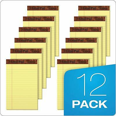 5 x 8 Inches Pack of 12 50 Sheets Each School Smart Junior Legal Pad Canary