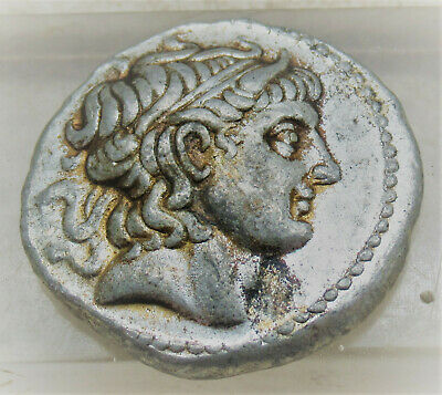 Unresearched Ancient Greek Ar Silver Tetradrachm Coin