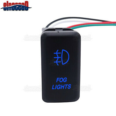 """1.58/""""x0.82/"""" Red LED Fog Lights 12V Push Button Switch W// Wire Kit For Toyota"""