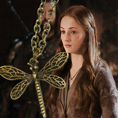 Game of Thrones Sansa Stark Necklace Dragonfly Pendant Girl Jewellery Gift Party