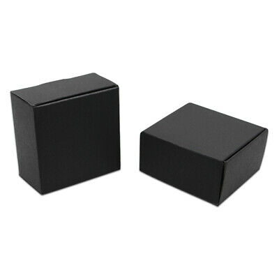 3.7x3.7x2cm Black Kraft Paper Pack Foldable Wedding Party Gift Craft Candy Boxes