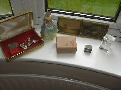 Job Lot/Collection of Vintage items. Pictures, jewellery box Bits & Bobs/Curios.