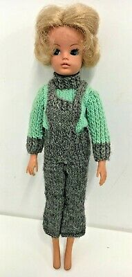 Vintage SINDY DOLL Short Blonde Hair Knitted Clothes Pre Owned Toy