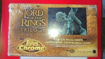 LOTR Trilogy trading card box - foil set with 2 autograph and 1 memorabilia card