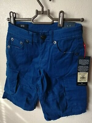 New True Religion Boys Jeans Cargo Shorts Royal Blue MSRP $79