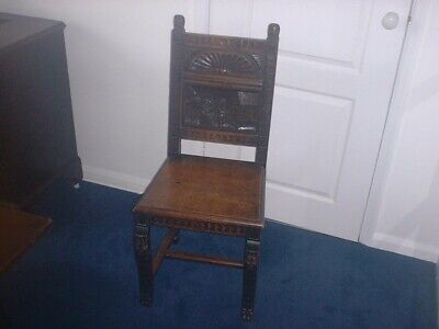 17th Century Carved Oak Wainscot Chair superb