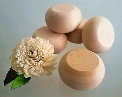 Chunky Wooden Pebbles - Large / Perfectly Round / Extra Thick / Can be Stacked