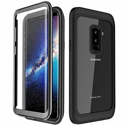 For Samsung Galaxy S10 S9 S8 Plus Full Body Built-in Screen Protector Case Cover