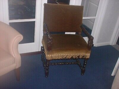 17th century spanish arm chair jointed