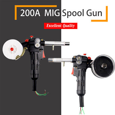 UK Universal DC 24V Toothed MIG Spool Gun Wire Feed Aluminum Welder Torch