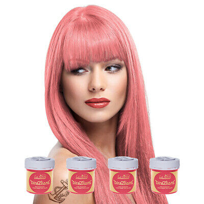 La Riche Directions Pastel Pink Semi-Permanent Colour Hair Dye Kit 4 Pack 88ml