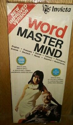VINTAGE WORD MASTER MIND BY INVICTA 1975 Game in Box