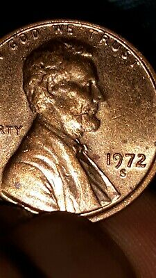 1972 DOUBLE DIE Error Lincoln Penny Coin Beautiful Condition