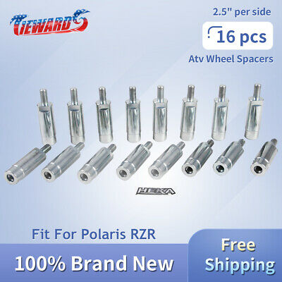 """3//8/"""" stud spacers 2.5/"""" Wheel Spacers for Polaris Ranger fits Front /& Rear"""