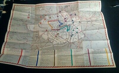 Map of the Coronation Route of King George VI  May 12 1937 Very Good London