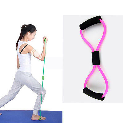 Resistance Training Bands Rope Tube Workout Exercise For Yoga 8 Type