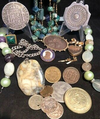 Deceased Estate Mixed Lot-Jewellery, Unique Curios,Gold, Silver, Coins + MORE