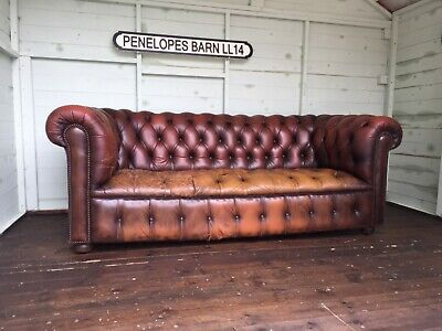 Vintage Chesterfield Button Seat Sofa