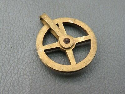 Antique or vintage Vienna wall clock brass pulley wheel spares parts