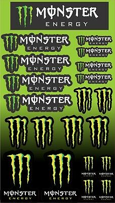 Monster energy sticker sheet  20 stickers in total