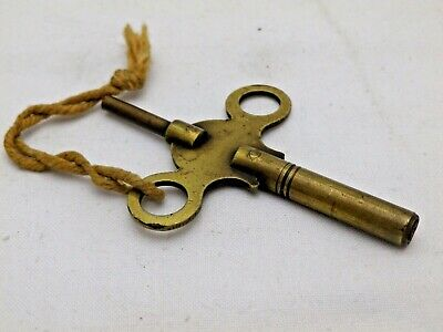 Antique Brass Double Ended Carriage Clock Winding Key