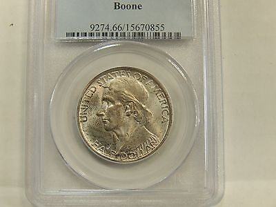 1938 MS66 Boone Silver Commemorative PCGS Certified Gem #70855