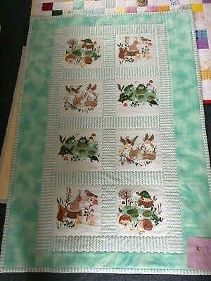 Margarets Handmade Quilts - baby toddler play mat playmat lap quilt  bunny