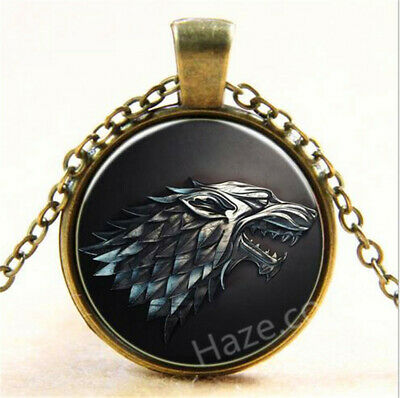 Game of Thrones Necklace Pendant - House of Stark Wolf Necklace