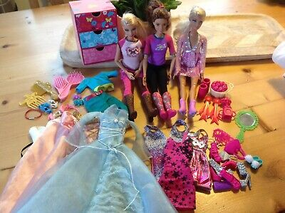 Huge Barbie Doll Bundle With Clothes, Accessories, Shoes, Brushes and Dolls