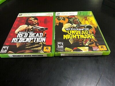Red Dead Redemption Microsoft & Undead Nightmare Xbox 360 Video Game