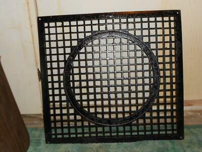 "Vintage Large Cast Iron Floor Return Air Grate Circa 1932 Aprox 23 ½"" X 25 ¼"""