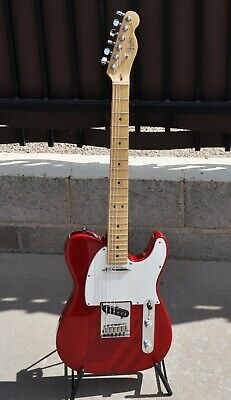 1993 Fender Telecaster Guitar USA American Made Candy Apple Red Tweed Case
