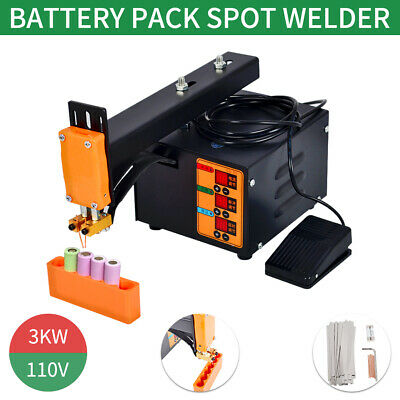 Pulse Spot Welder Machine LED Light 18650 Battery Pack 110V 3KW US Stock