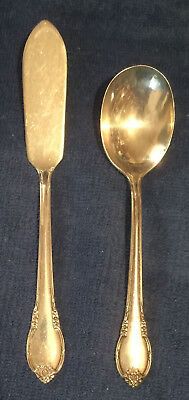 Remembrance Silverplate 1948 1847 Rogers Bros Is **Butter Knife & Sugar Spoon