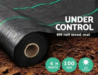 4Mx6M 100gsm Weed Control Fabric Garden Landscape Ground Cover Membrane Mulch