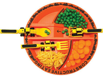 Constructive Eating Plate & Utensils Cutlery set Kids Toddler Free Shipping