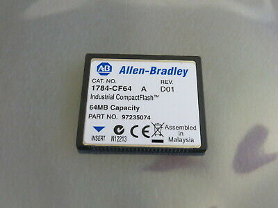 Allen Bradley 1784-CF64 Industrial CompactFlash Card 64MB, Nice Used Tested