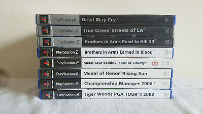 Ps2 Games Bundle Metal Gear Solid. Devil May Cry. True Crime. and more
