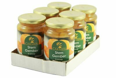 (14,16€/1kg) [6x 450g/ 240g ATG] CARMEN Ingwer in Sirup / Ginger in Syrup Gember