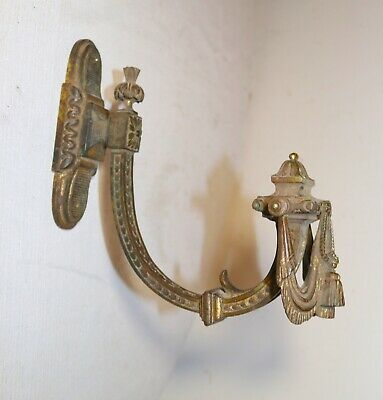 antique 1800's ornate gilt bronze figural wall hook hanging hardware coat rack