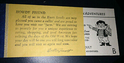 Vintage Knotts Berry Farm Ticket Books WitH 2 B Tickets