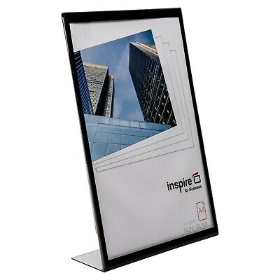Brand New Acrylic Clear Menu Holder Perspex Leaflet Display Shop A4 Photo Frames