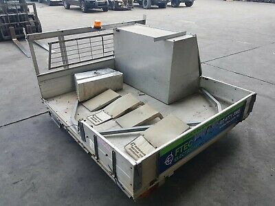 Extra Cab Alloy Ute Tray Back With Ladder Rack And Tool Box #109952