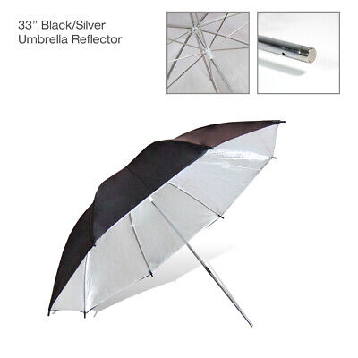 "New Photography 33"" Black Silver Umbrella Light Photo Video Studio Lighting"