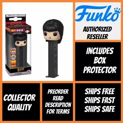 Funko POP! PEZ - ELVIRA Mistress of the Dark w/ Protector Presale *MINT*