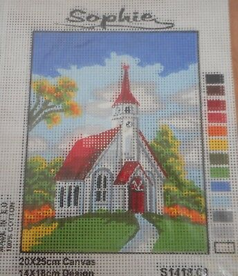 RED AND WHITE CHURCH - Tapestry to Stitch (NEW) by SOPHIE