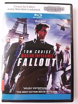 Mission Impossible Fallout, 2018, PG-13, Action, Bluray Movie, 2-Discs Like New