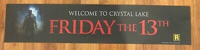 ⭐ Friday The 13th (2009) - Movie Theater Poster / Mylar LARGE - Double-Sided DS