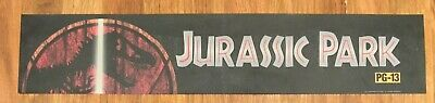 ⭐ Jurassic Park (1993) - Movie Theater Poster / Mylar LARGE - Double-Sided DS