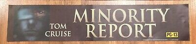 ⭐ Minority Report - Movie Theater Poster / Mylar LARGE - Double-Sided DS
